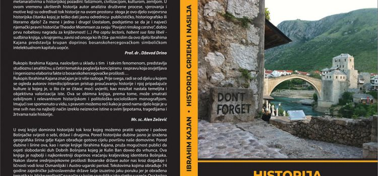 """Promocija knjige """"Historija grijeha i nasilja"""" autora Ibrahima Kajana"""