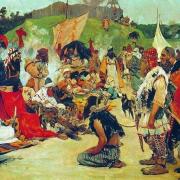 Ahmad ibn Fadlanov opis života Vikinga: Svaki od njih uz sebe ima sjekiru, mač ili nož. Nikad se ne odvajaju od svog oružja