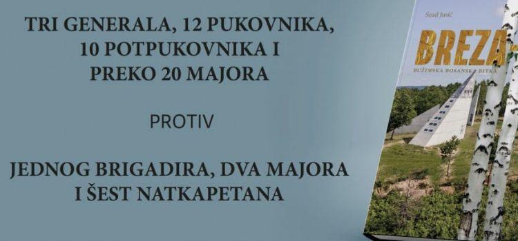 "U Sarajevu 13. septembra promocija knjige ""Breza 94: Bužimska bosanska bitka"""