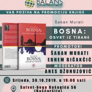 """Sarajevo: Promocija knjige """"Bosna: Pogled iz Tirane"""" autora Šabana Muratia dugogodišnjeg albanskog diplomate"""